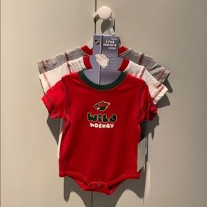 3 Pack Bodysuit fits 12 M Hockey